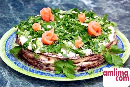 Торт з печінки яловичої - різні рецепти традиційної закуски