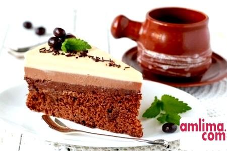 Три кольору і смаку в одному досконало: Торт