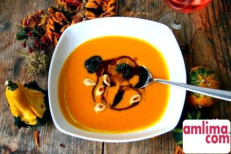 Гарбузовий суп пюре для гурманів