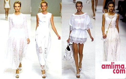 В очікуванні літа: білі мереживні сукні