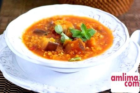 Варіанти приготування супу з баклажанами