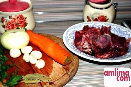 інгредієнти для приготування качки в мультиварці з овочами