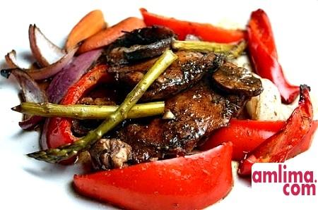 рецепт курка з овочами в духовці