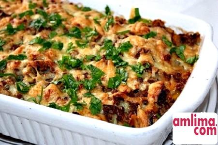 Запіканка картопляна з м'ясом і грибами: кулінарія на дому