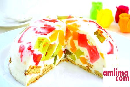 Желе бите скло - оригінальний різнокольоровий десерт