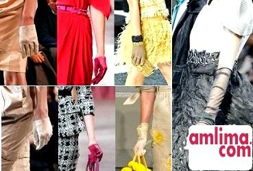 Жіночі довгі рукавички